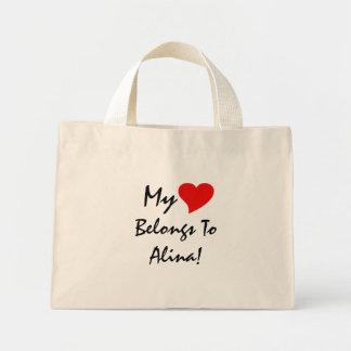 My Heart Belongs To Alina IV Tote Bags