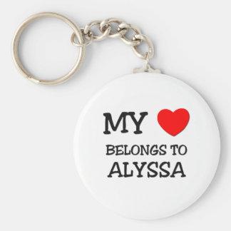 My Heart Belongs To ALYSSA Key Ring
