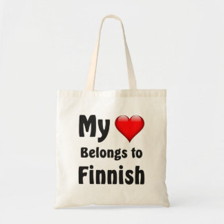 My heart Belongs to Finnish Tote Bags
