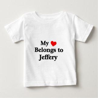 My heart belongs to Jeffery Baby T-Shirt