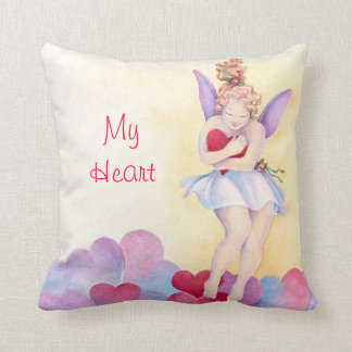 My Heart Valentine Pillow Throw Cushion
