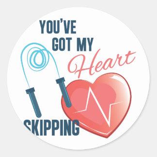 My Heat Skipping Round Sticker