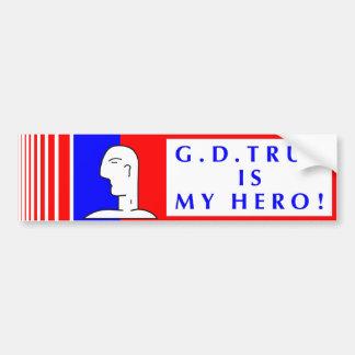 MY HERO BUMPER STICKER