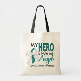 My Hero Is My Angel Cervical Cancer Canvas Bags