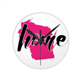 My Home State - Wisconsin Round Clock