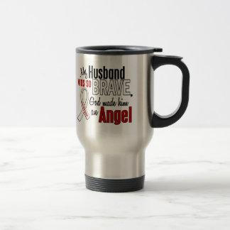 My Husband Is An Angel Lung Cancer Travel Mug