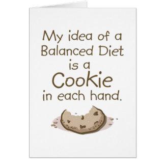 My idea of a balanced diet greeting card
