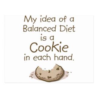 My idea of a balanced diet postcard