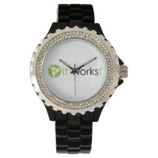 My It Works Logo Rhinestone Watch
