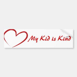 My Kid is Kind Bumper Sticker Bumper Sticker