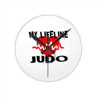 MY LIFE LINA JUDO MARTIAL ARTS DESIGNS ROUND CLOCK