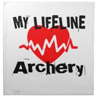 My Life Line Archery Sports Designs Napkin