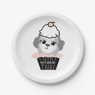my lil pupcake party plates 7 inch paper plate