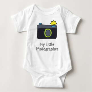 My Little Photographer Hand Drawn Baby Bodysuit