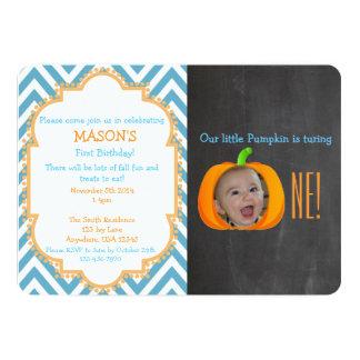 My Little Pumpkin 1st Birthday Invitation