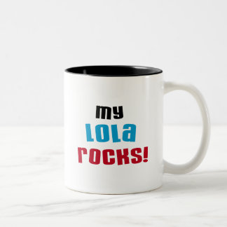 My Lola Rocks T-shirts and Gifts Two-Tone Coffee Mug