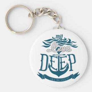 My love is deep like the ocean key ring