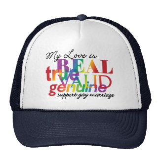 My Love Is Real Support Gay Marriage Cap