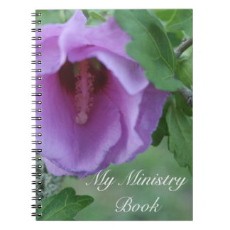 My ministry book spiral note book