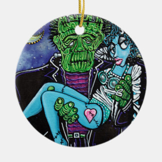 My Monster My Bride Christmas Ornament