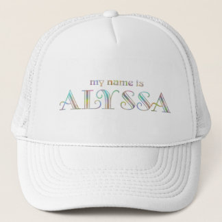 My name is Alyssa Trucker Hat