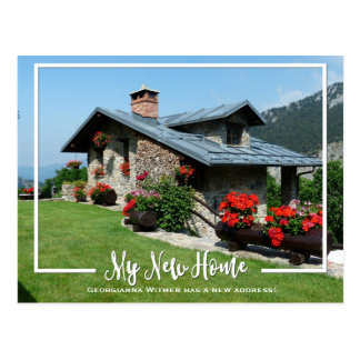 My New Home Photo Moving Announcement Postcard