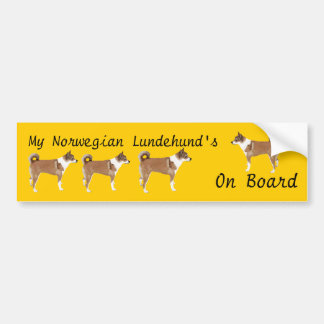 My Norwegian Lundehund On Board Bumper Sticker