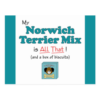 My Norwich Terrier Mix is All That! Postcard