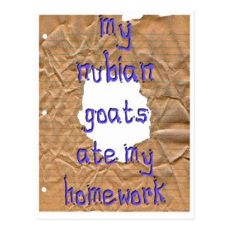 My Nubian Goats Ate My Homework Post Cards