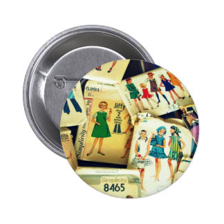 my old sewing patterns 6 cm round badge