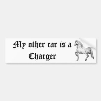 My other car is a Charger Car Bumper Sticker