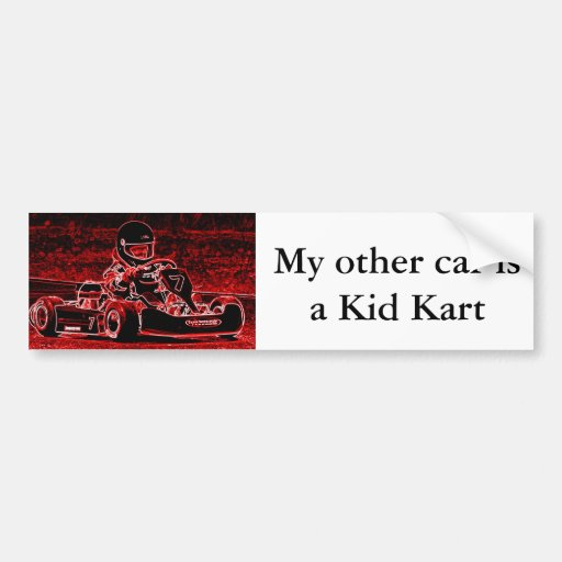 My Other Car is a Kid Kart Bumper Sticker