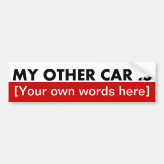 my-other-car-is-template-02 car bumper sticker