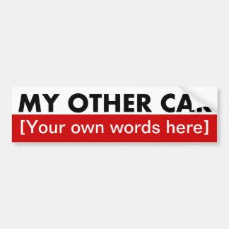 my-other-car-template-02 car bumper sticker