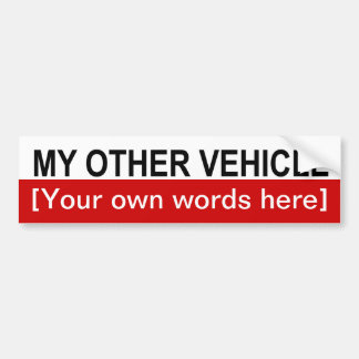 my-other-vehicle-template-02 car bumper sticker