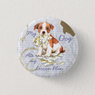 My Parson Russell Terrier Ate My Lesson Plan 3 Cm Round Badge