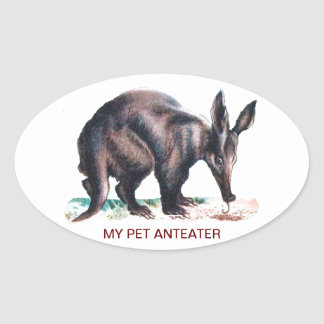 MY PET ANTEATER OVAL STICKER