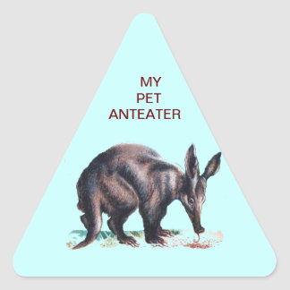 MY PET ANTEATER TRIANGLE STICKER