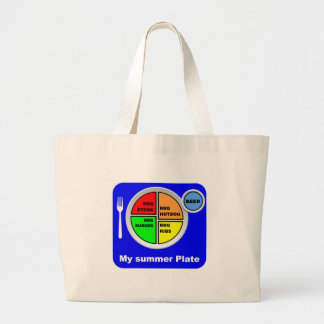 my plate large tote bag