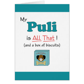 My Puli is All That! Card