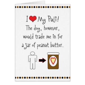 My Puli Loves Peanut Butter Card