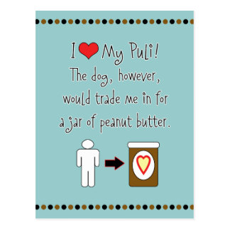 My Puli Loves Peanut Butter Postcard
