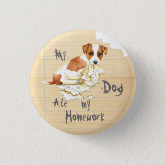My Russell Terrier Ate My Homework 3 Cm Round Badge