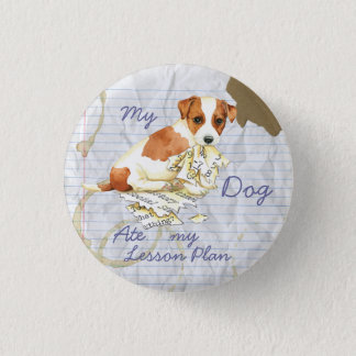 My Russell Terrier Ate My Lesson Plan 3 Cm Round Badge