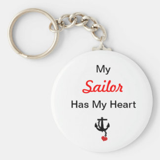 My Sailor Has My Heart Basic Round Button Key Ring