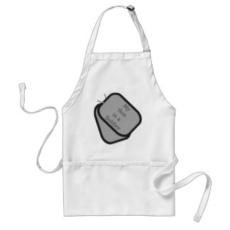 My Son is a Soldier Dog Tags Standard Apron