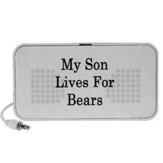 My Son Lives For Bears Travel Speakers