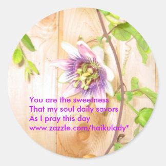 My Soul Savors Daily Round Sticker