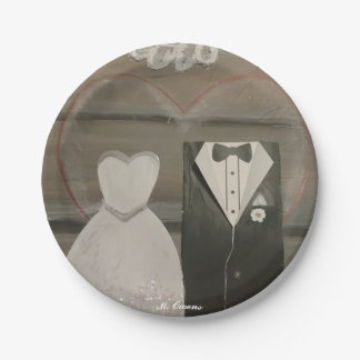 My Special Wedding Day Paper Plates 7 Inch Paper Plate