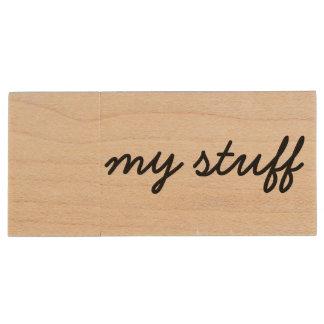 my stuff USB stick Wood USB 2.0 Flash Drive